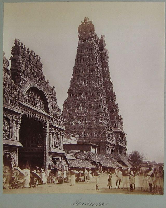 indien, india -- () Madura (Madurai, Meenachi Temple and the Great ...